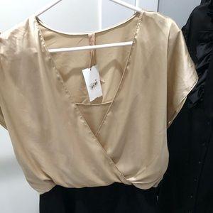 2 tone contemporary Dress